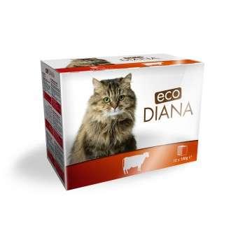 Eco Diana - Pâté en Barquette au Boeuf pour Chat 12*100g