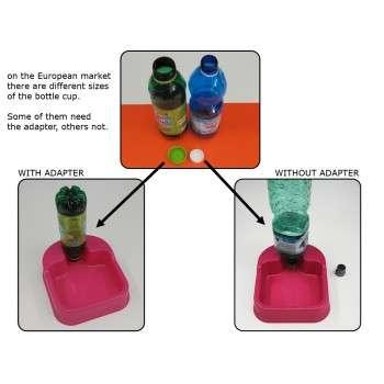 distributeur d'eau et de croquettes 23 x 20 x 6 h