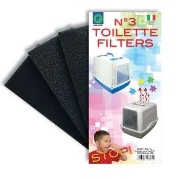filtre de toilette 9 x 18 x 2 h