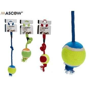 MASCOW - Jouet a mordre corde avec balle mix 3 co