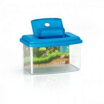 Aquarium 2 avec couvercle . 28 x 20 x 17 h - lt. 5.50