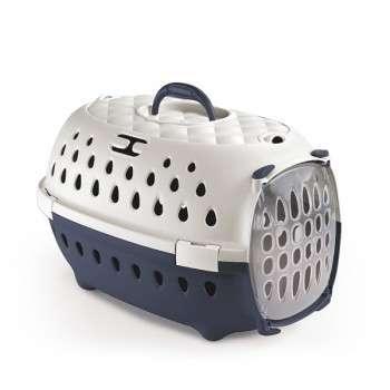 Stefanplast - cage de transport chic pour chat et chien de petite taille - Bleu .