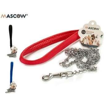 Mascow - laisse chrome 1.2 pour chien de petite taille .
