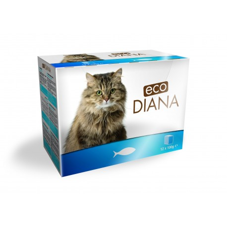 Eco Diana - Pâté en Barquette au Poisson pour Chat 12*100g