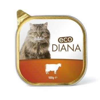 Eco Diana - Pâté en Barquette au Boeuf pour Chat - 100g