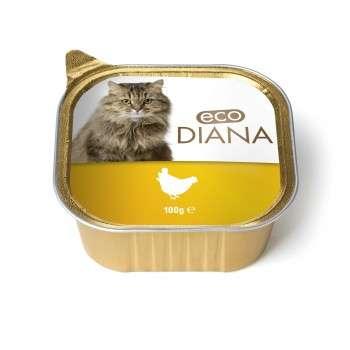 Eco Diana - Pâté en Barquette au poulet pour Chat - 100g