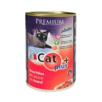CAT+ 410 gr Bouchées en sauce au boeuf