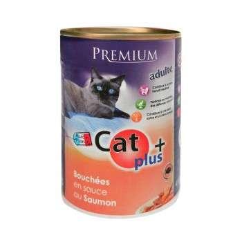 CAT+ 410 gr Bouchées en sauce au poisson saumon