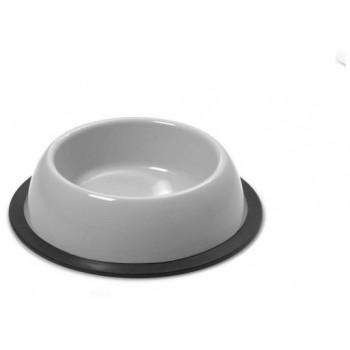 Georplast - gamelle pour Chiens Moyen Rond Silver Antidérapante 22 x 5.5 x 0.65