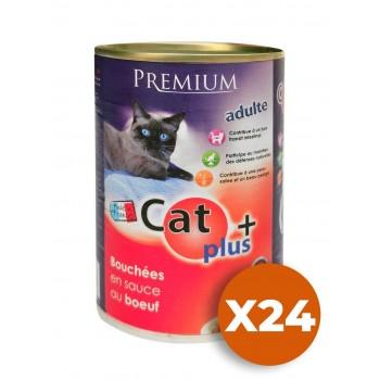 CAT + 410 gr Bouchées en sauce au boeuf x24