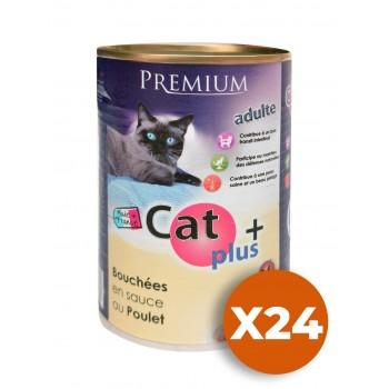 CAT + 410 gr Bouchées en sauce au Poulet x24