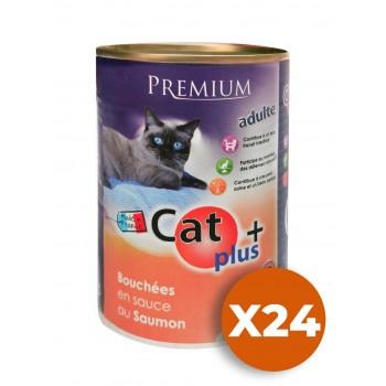 CAT + 410 gr Bouchées en sauce saumon x24