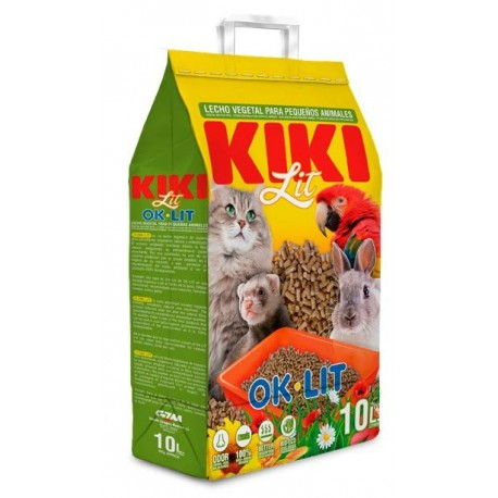 KIKI OK·LIT, Lit végétal en granulés de bois 10L