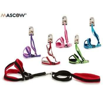 Mascow - harnais réglable + laisse  pour petit chien et chiot .