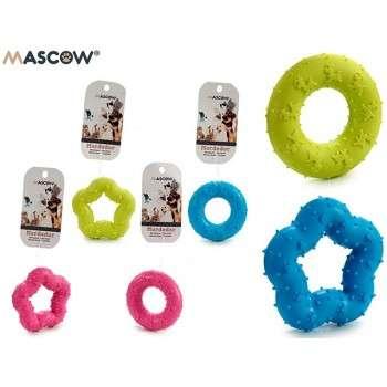 Mascow - Jouet étoile/cercle à mordre en silicone pour chiot et chien.