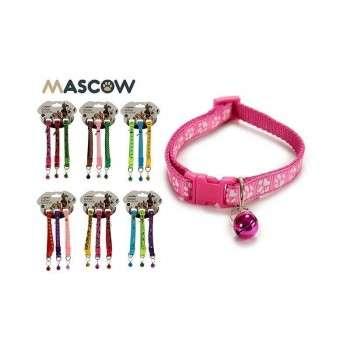 Mascow - collier nylon sangle réglable pour chat et petit chien.