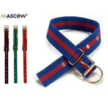 Mascow - collier en nylon avec rivets pour chien de grande taille 0.5 x 4 x 51 cm.