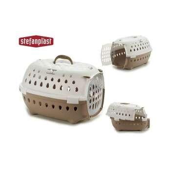 Stefanplast - cage de transport chic pour chat et chien de petite taille - beige.