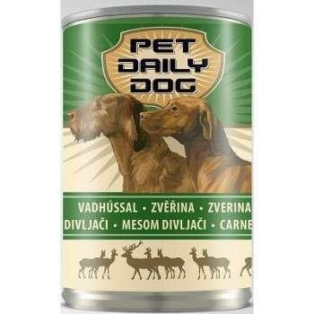 Pet Dayli - Aliment Humide Pour Chien Au Gibier 1240 Gr- Morceaux En Sauce