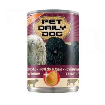 Pet Dayli- Aliment Humide Pour Chien Au Boeuf 1240 Gr- Morceaux En Sauce