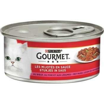 Purina - Gourmet Tm Les Mijotés En Sauce Au Boeuf.