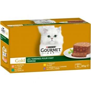 Purina - Gourmet Gold Terrines 4*85G.