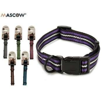 Mascow - collier réglable avec des rayures pour chien de grande taille 2.5 x 21 x 1 cm .