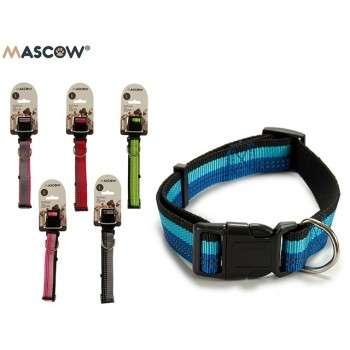 Mascow - collier réglable avec des rayures pour chien de grande taille 3.5 x 21 x 2 cm .